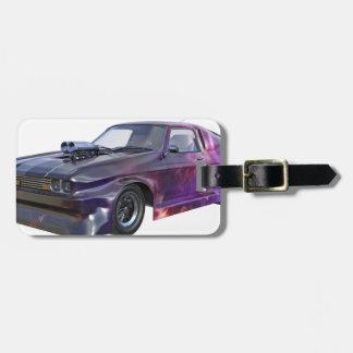 2016 Galaxy Purple Muscle Car Luggage Tag