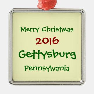 2016 GETTYSBURG PENNSYLVANIA CHRISTMAS ORNAMENT