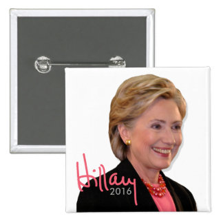 2016 Hillary Clinton for President - Autograph 15 Cm Square Badge
