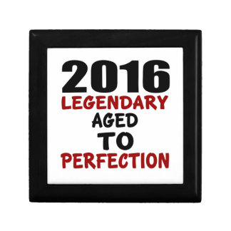2016 LEGENDARY AGED TO PERFECTION SMALL SQUARE GIFT BOX