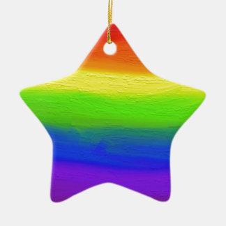 2016 LOVE = LOVE Rainbow Ceramic Star Decoration