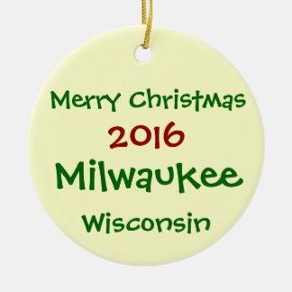 2016 Milwaukee Wisconsin MERRY CHRISTMAS ORNAMENT