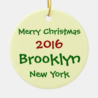 2016 NEW YORK BROOKLYN MERRY CHRISTMAS ORNAMENT