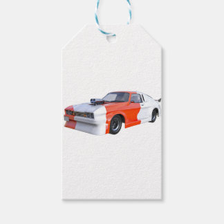 2016 Orange and White Muscle Car