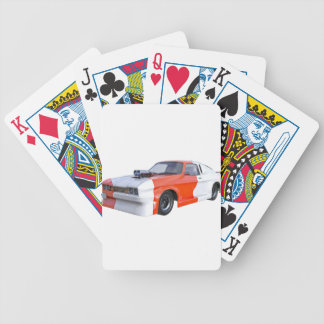 2016 Orange and White Muscle Car Bicycle Playing Cards