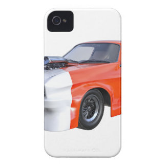 2016 Orange and White Muscle Car Case-Mate iPhone 4 Cases