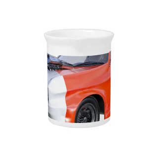 2016 Orange and White Muscle Car Pitcher