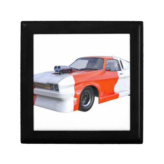 2016 Orange and White Muscle Car Small Square Gift Box