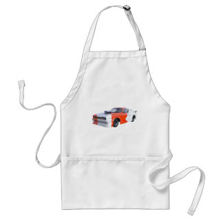 2016 Orange and White Muscle Car Standard Apron