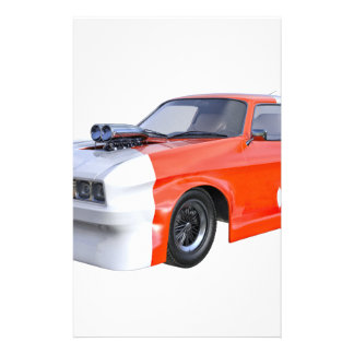 2016 Orange and White Muscle Car Stationery