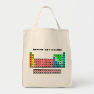 2016 Periodic Table of the Elements Grocery Tote Bag
