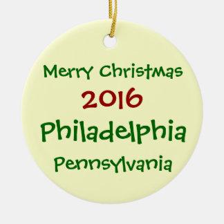 2016 PHILADELPHIA PENNSYLVANIA CHRISTMAS ORNAMENT