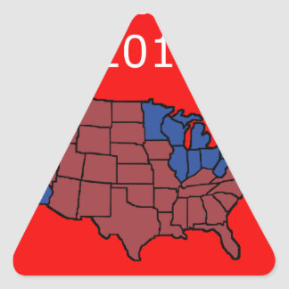2016 Presidential Election Triangle Sticker