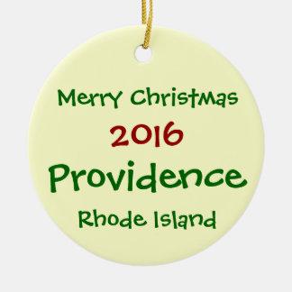 2016 Providence Rhode Island CHRISTMAS ORNAMENT