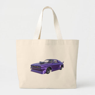 2016 Purple Muscle Car Large Tote Bag