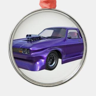 2016 Purple Muscle Car Metal Ornament