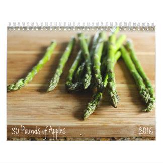 2016 Raw Ingredients Calendar