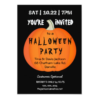 2016 Spooky Halloween Pumpkin Party Invitation