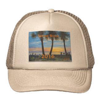 2016 SPRING BREAK OCEAN PALM TREES TRUCKER HAT