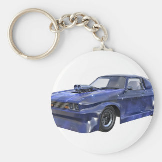 2016 Star Blue Muscle Car Basic Round Button Key Ring