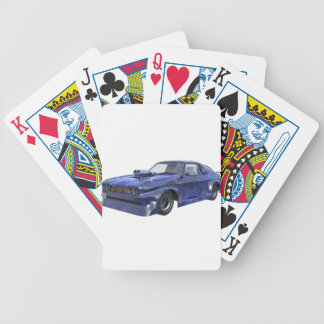 2016 Star Blue Muscle Car Bicycle Playing Cards
