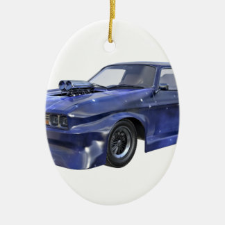 2016 Star Blue Muscle Car Ceramic Ornament