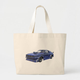2016 Star Blue Muscle Car Large Tote Bag