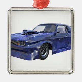 2016 Star Blue Muscle Car Metal Ornament