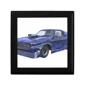 2016 Star Blue Muscle Car Small Square Gift Box