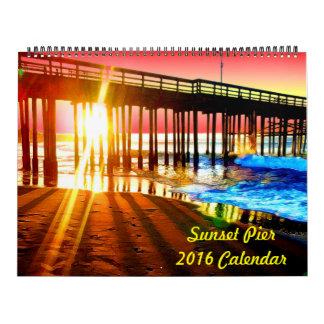 2016 Sunset Pier Wall Calendar