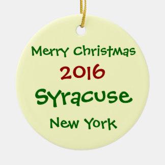 2016 SYRACUSE NEW YORK MERRY CHRISTMAS ORNAMENT