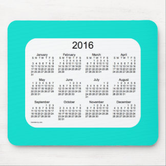 2016 Turquoise Calendar by Janz Mousepad