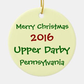 2016 UPPER DARBY PENNSYLVANIA CHRISTMAS ORNAMENT