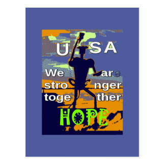 2016 US election Hillary Clinton hope Stronger Tog Postcard