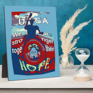 2016 USA Have a Nice Day Hillary Stronger Together Photo Plaques