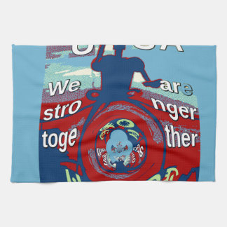 2016 USA Have a Nice Day Hillary Stronger Together Tea Towels
