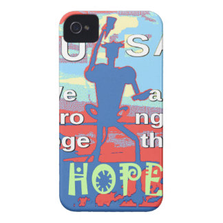 2016 USA Lovely Hillary Blue We Are Stronger Toget iPhone 4 Case-Mate Cases