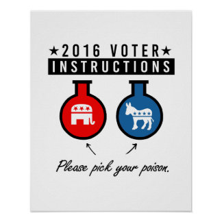 2016 VOTER INSTRUCTIONS - Pick your poison - - .pn Poster