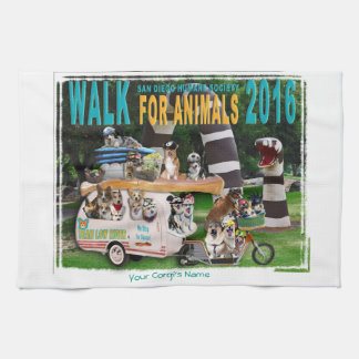 "2016 Walk for Animals Towel 16"" x 24"""