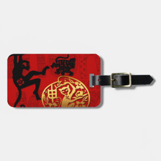 2016 Year of The Monkey Chinese New Year Travel Bag Tag