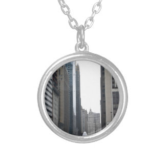 20171chicao rush hour silver plated necklace