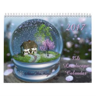 2017 3D Landscape Calendar