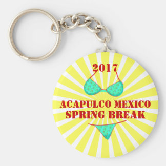 2017 Acapulco Mexico | Spring Break Souvenir Basic Round Button Key Ring