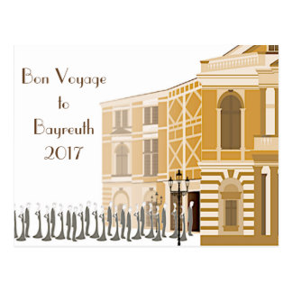 "2017 Bayreuth Festival ""Bon Voyage"" postcard"