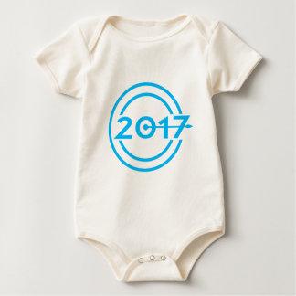 2017 Blue Date Clock Baby Bodysuit