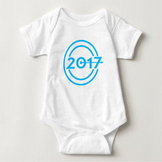 2017 Blue Date Clock Baby Bodysuit