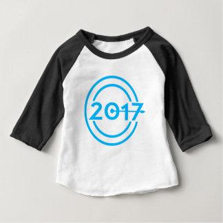 2017 Blue Date Clock Baby T-Shirt