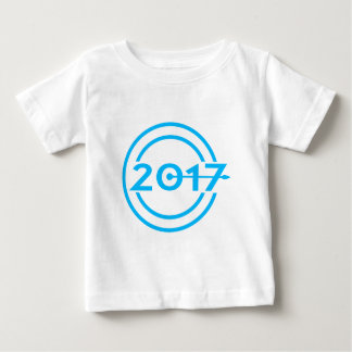 2017 Blue Date Clock Baby T-Shirt