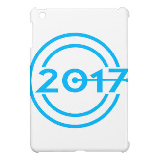 2017 Blue Date Clock iPad Mini Cases