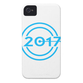 2017 Blue Date Clock iPhone 4 Cases
